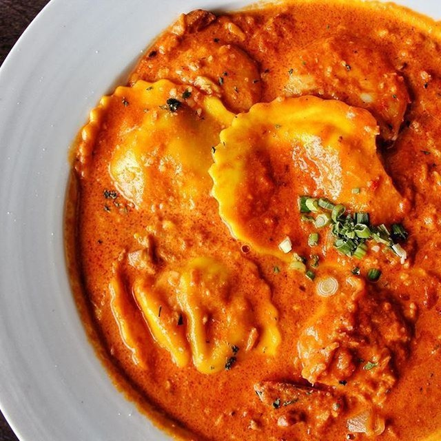 Its Fairfield Restaurant Week! This Lobster Ravioli with Sauted Largehellip
