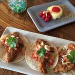 Buttermilk fried fish, Maine crab, salsa fresca, jalapeño & tartare…