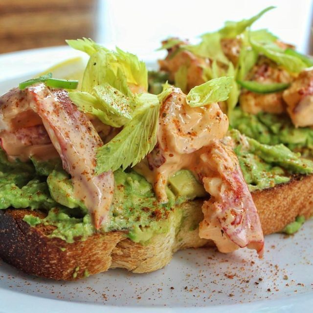 Avocado Toast with Spicy Lobster Salad amp Old Bay Mayohellip