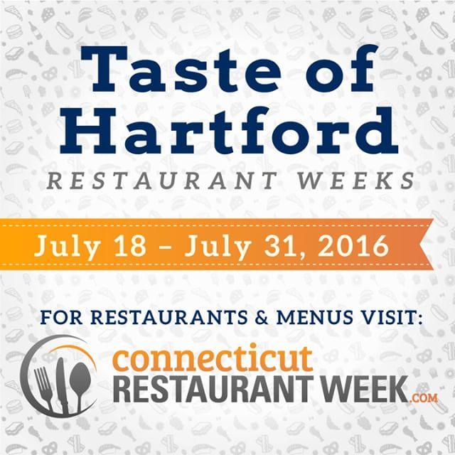 Taste of Hartford Summer Restaurant Weeks are happening RIGHT NOW!hellip
