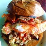 Hot lobster roll from KnappsLanding in Stratford Regram from miabites1hellip